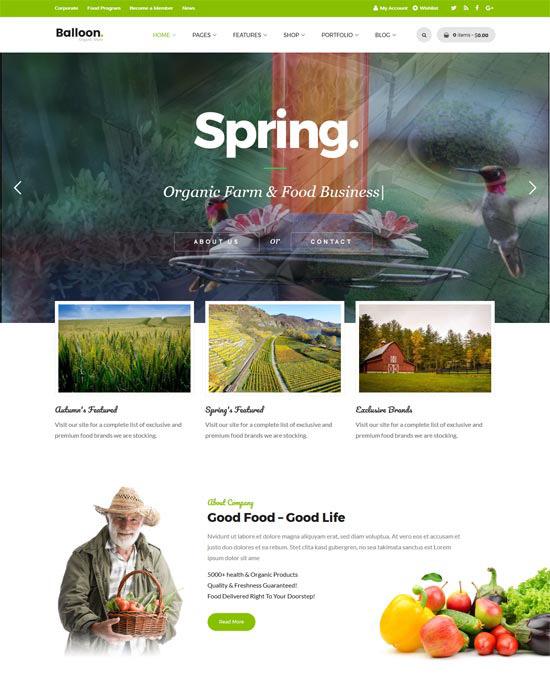 Agriculture organic farm website example