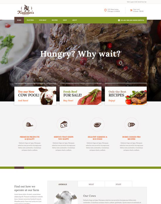 Cattle Farm website example