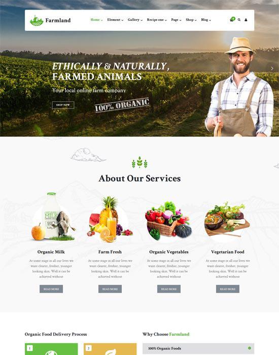 Farm organic website example