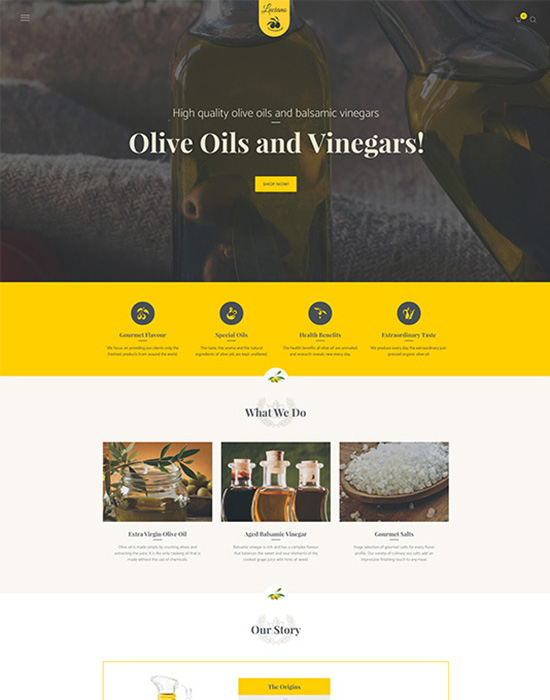 Olive oil website example