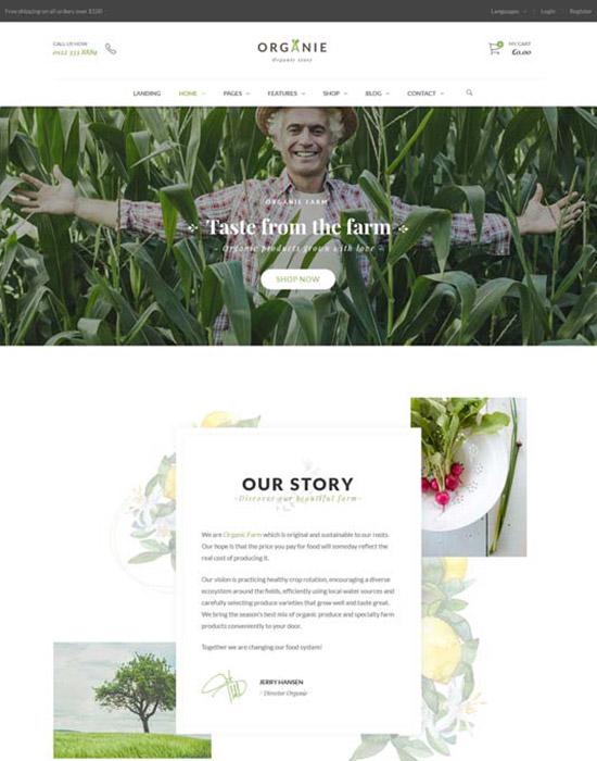 Organic farm website example
