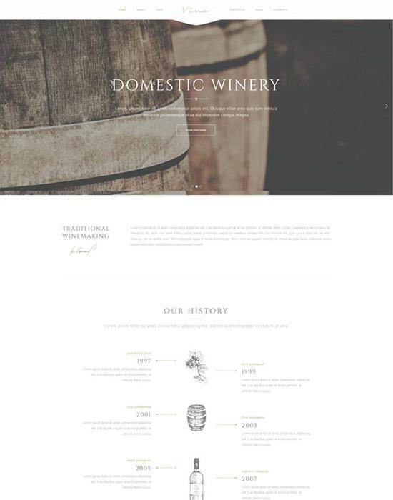 Vineyard website example