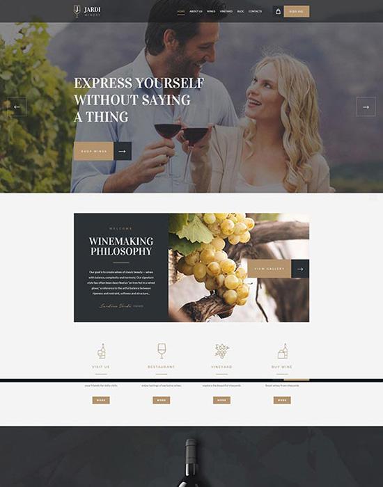 Wine shop website example